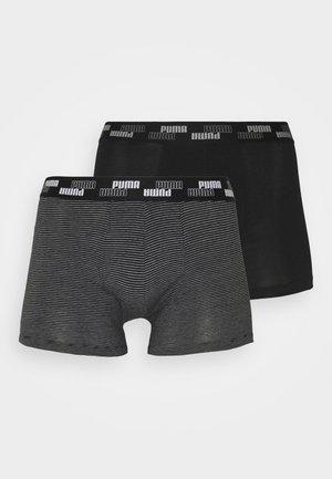 MEN MINI STRIPE 2 PACK - Shorty - black