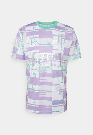 SEASON ZINE - Print T-shirt - white/biscay green
