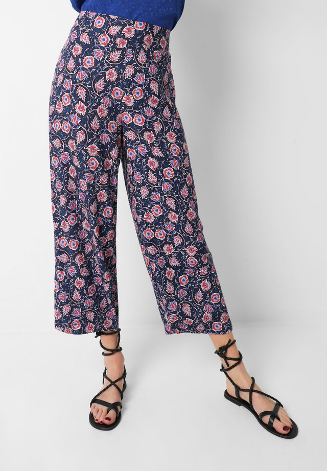 FLORAL  - Trousers - navy