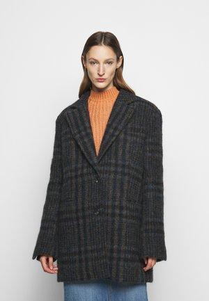 JUMBO CHECK COAT - Cappotto classico - brown/blue
