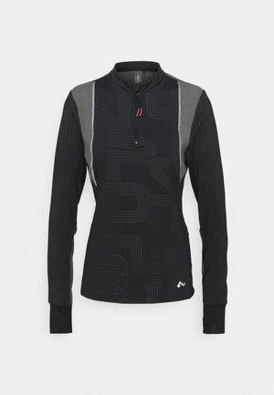 ONPJOKI HALF ZIP - Long sleeved top - black
