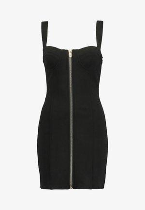 SLEEVELESS ZIPPER FRONT DRESS - Vestido informal - black