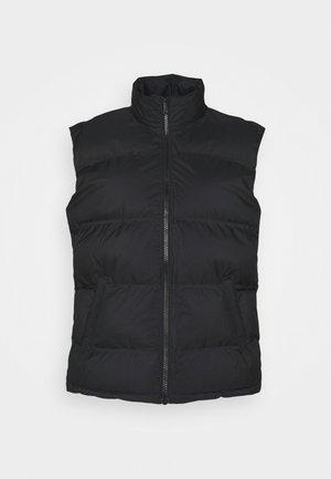 LAYER PUFFER VEST - Waistcoat - black
