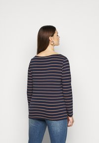 Anna Field Curvy - Long sleeved top - dark blue/camel - 2