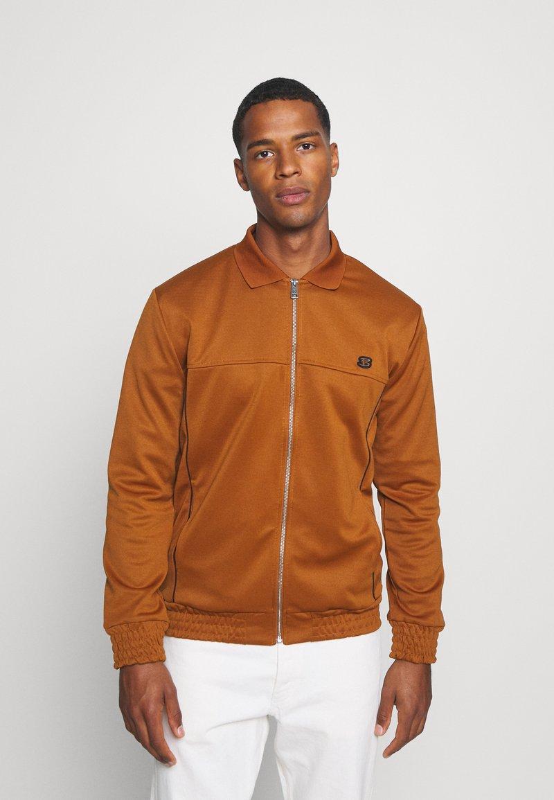 Ben Sherman - TRICOT COLLAR ZIP THROUGH - Training jacket - caramel