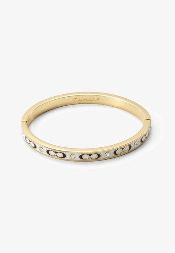 HINGED BANGLE - Bracelet - gold-coloured/chalk