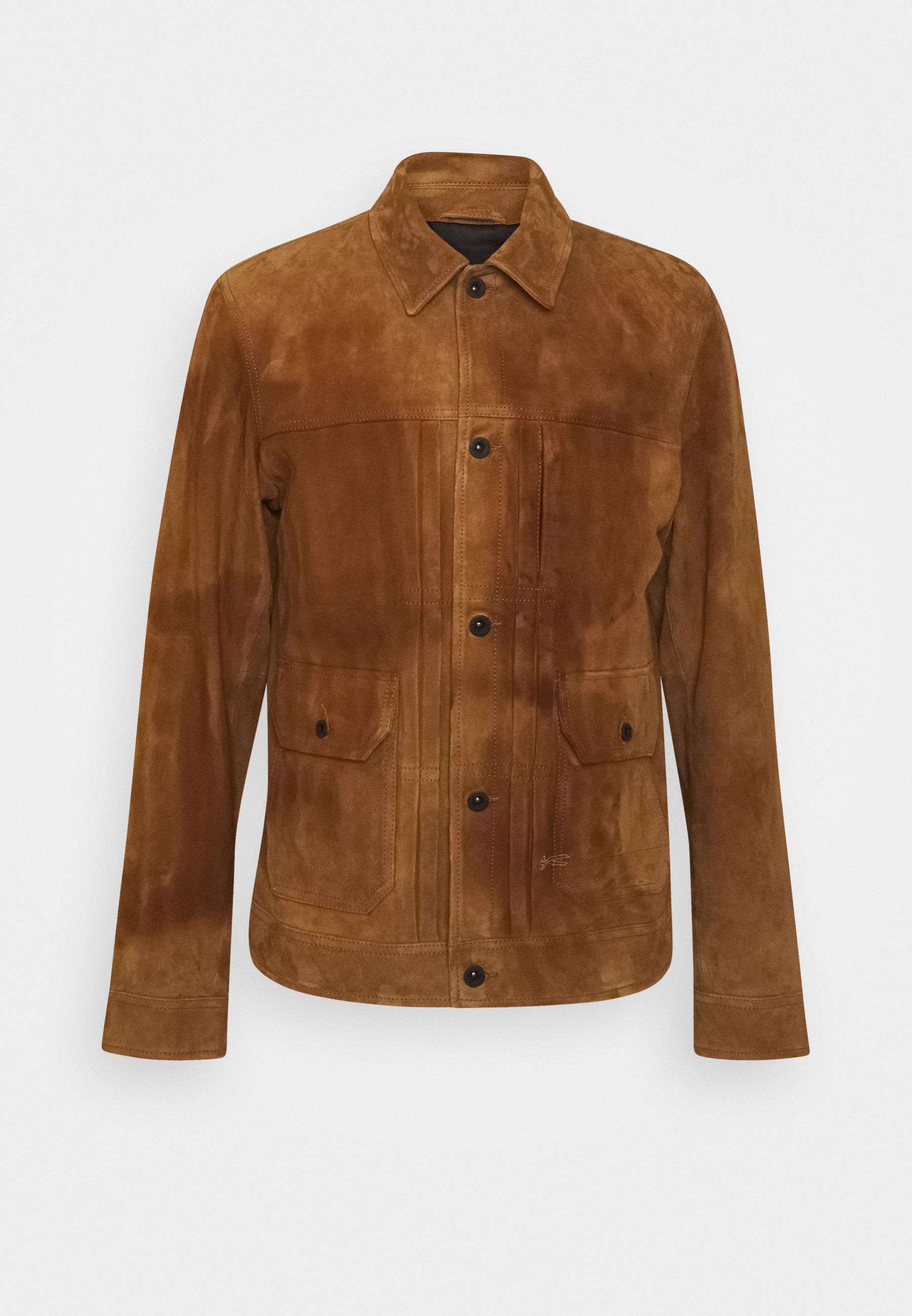 Men WINSTON SUEDE JACKET - Leather jacket