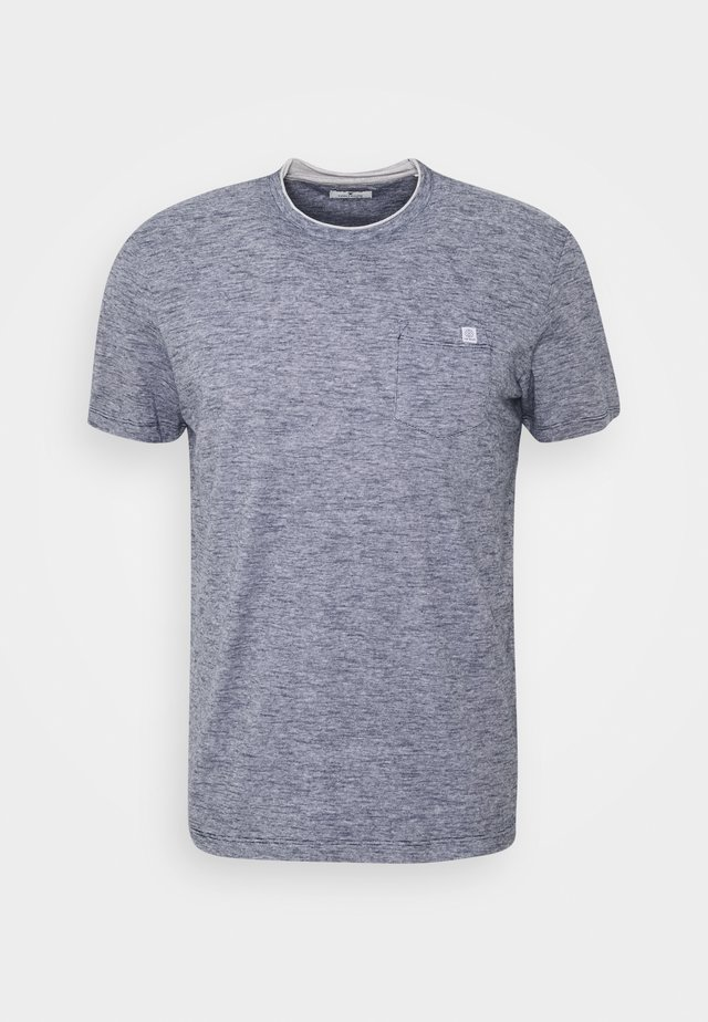 FINELINER WITH POCKET - Basic T-shirt - dark blue