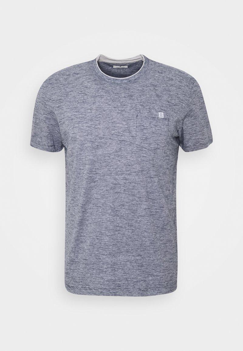 TOM TAILOR - Print T-shirt - dark blue