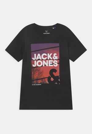 JJURBAN CITY TEE CREW NECK - T-shirt med print - black