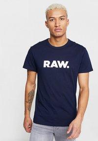 G-Star - HOLORN - T-shirt print - sartho blue - 0