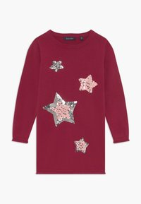 Blue Seven - KIDS SEQUIN STARS - Gebreide jurk - bordeaux - 0