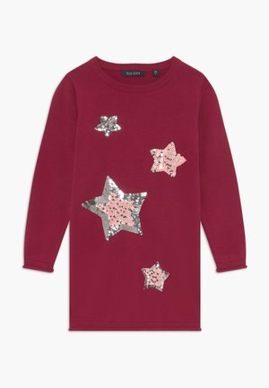 KIDS SEQUIN STARS - Robe pull - bordeaux
