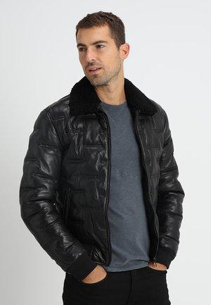 TAYLOR - Kožená bunda - black