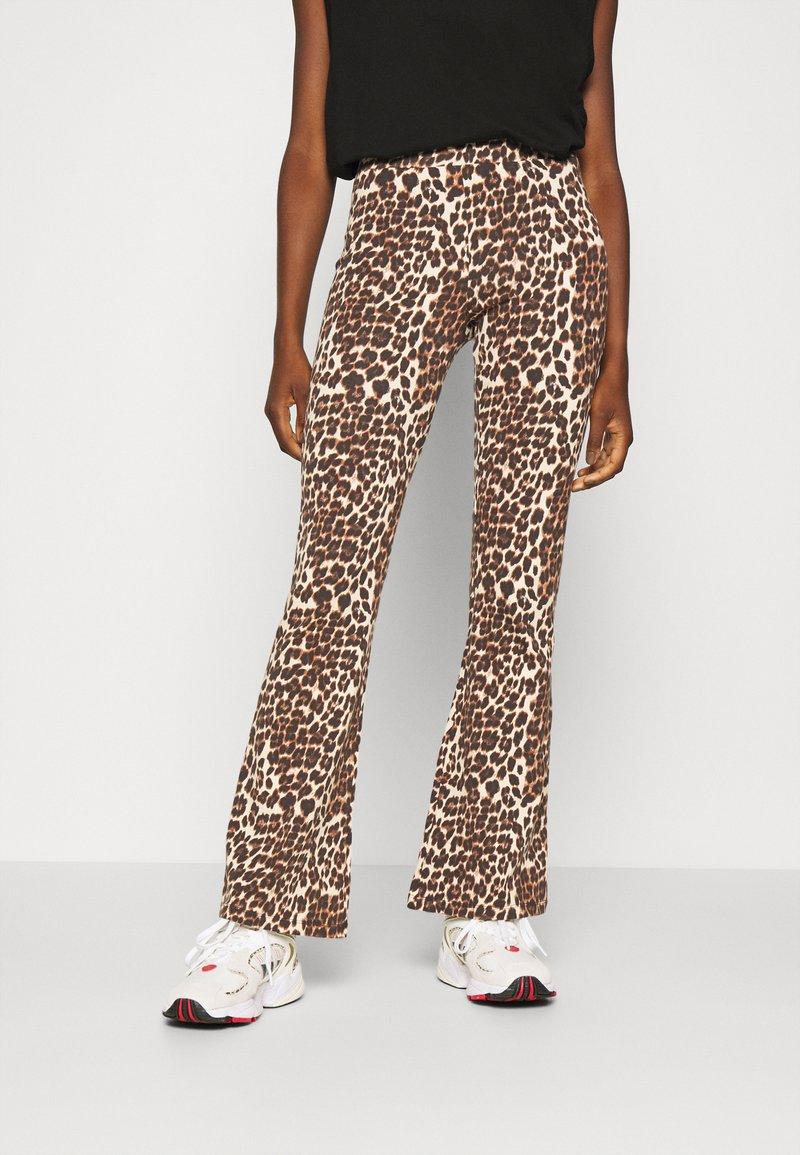 ONLY - ONLLIVE LOVE FLARED PANTS - Leggings - black