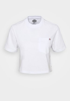 PORTERDALE CROP - Basic T-shirt - white
