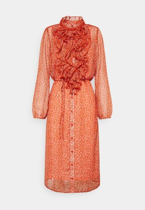 XELINA DRESS - Day dress - red orange/puff sky