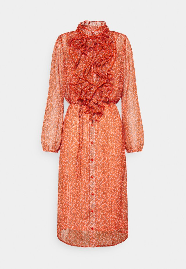 XELINA DRESS - Kjole - red orange/puff sky