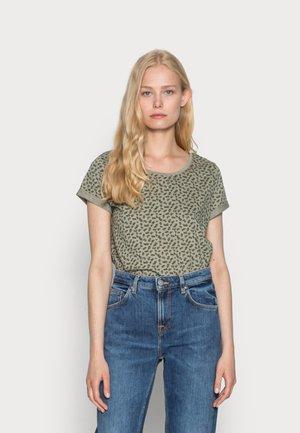 SLUB ROUNDNECK - Print T-shirt - light khaki
