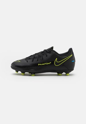 JR PHANTOM GT CLUB FG/MG UNISEX - Moulded stud football boots - black/cyber/light photo blue