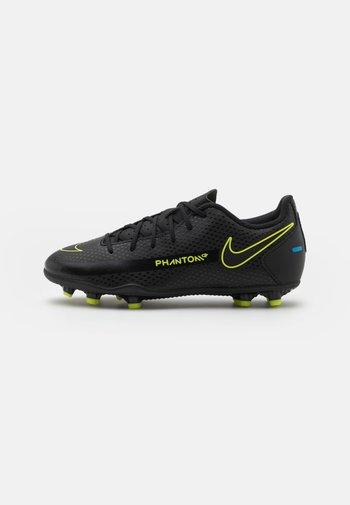 JR PHANTOM GT CLUB FG/MG UNISEX - Moulded stud football boots - black/cyber/light photo blue
