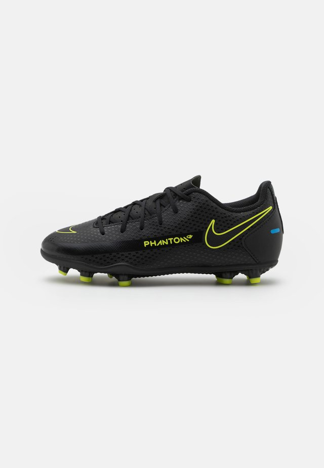JR PHANTOM GT CLUB FG/MG UNISEX - Chaussures de foot à crampons - black/cyber/light photo blue