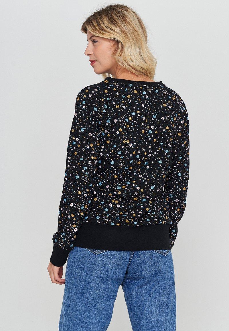 Mazine - TANAMI - Sweatshirt - black / printed