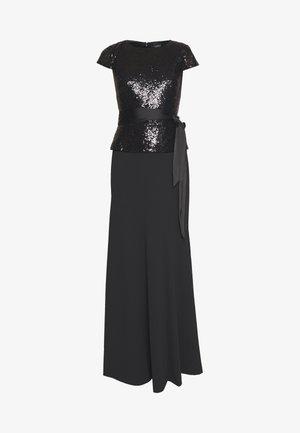 LUXE TECH LONG GOWN COMBO - Vestido de fiesta - black