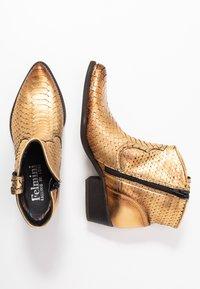 Felmini - TEXANA - Ankle boots - metal gold - 3