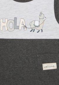 Jacky Baby - STRAMPLER HOLA LAMA 2 PACK - Jumpsuit - anthrazit/hellgrau - 4