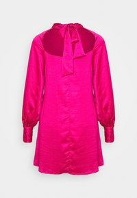 Glamorous - MINI SWING DRESS WITH LONG SLEEVES AND CUT OUT  - Day dress - pink sateen - 1