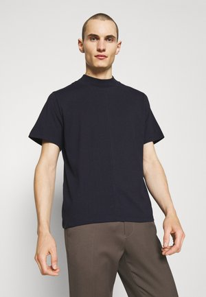 CAMERON MOCKNECK TEE - Basic T-shirt - navy