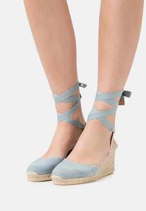 CARINA  - Plateausandalette - water blue