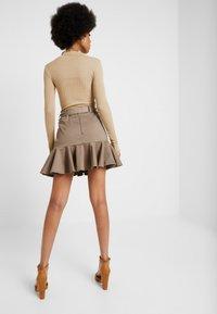 River Island - PRISCILLA FRILL HEM - A-line skirt - stone - 2