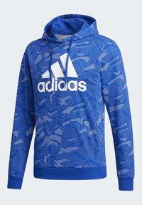 adidas Performance - ESSENTIALS ALLOVER PRINT HOODIE - Hoodie - blue - 9