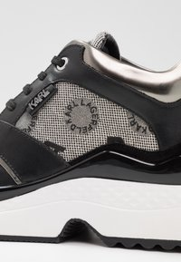 KARL LAGERFELD - AVENTUR MID LACE JACQUARD - Sneakers - light grey weave/black