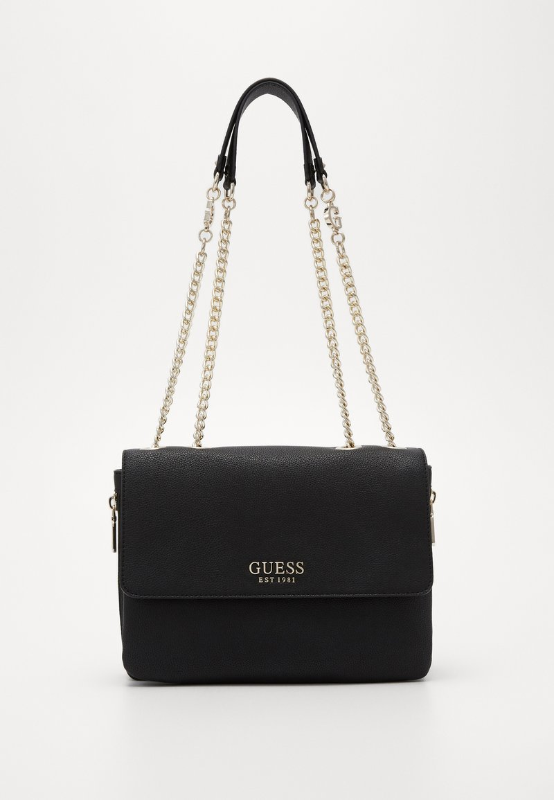 Guess - CHAIN CONVERTIBLE XBODY FLAP - Torba na ramię - black