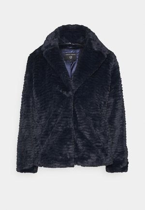 COLLAR AND REVERE TEXTURED COAT - Winter jacket - midnight