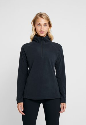 GLACIAL 1/2 ZIP - Forro polar - black