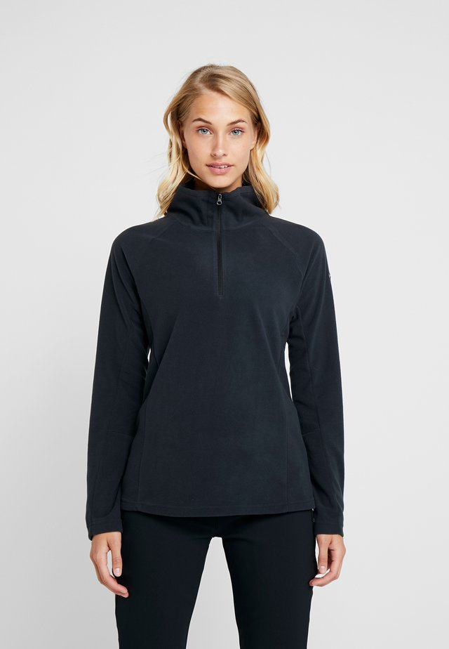 GLACIAL 1/2 ZIP - Fleece trui - black