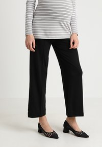 Boob - ONCE ON NEVER OFF CROPPED TROUSERS - Pantaloni - black - 0