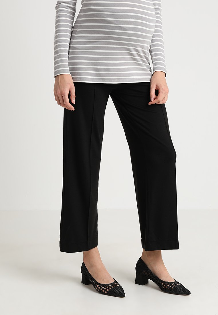 Boob - ONCE ON NEVER OFF CROPPED TROUSERS - Pantaloni - black