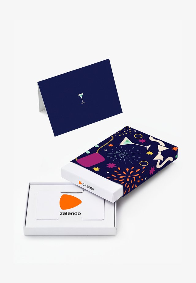 HAPPY BIRTHDAY - Gift card box - dark blue