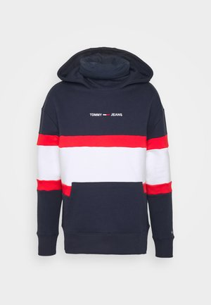 LINEAR BLOCK HOODIE UNISEX - Hoodie - twilight navy
