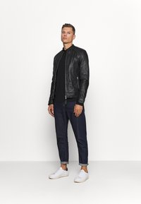 Schott - LCJULES - Leather jacket - black - 1