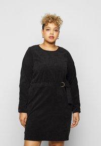 Noisy May Curve - NMMICK SHORT DRESS CURVE - Day dress - black - 0