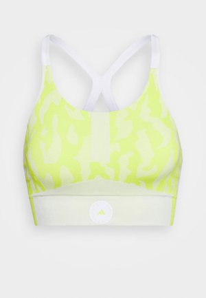 BRA - Light support sports bra - yellow/white