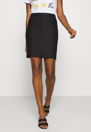 OBJBELLE SUPERCOATED SKIRT - Pencil skirt - black