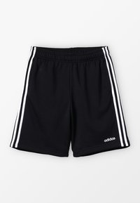 adidas Performance - BOYS ESSENTIALS 3STRIPES SPORT 1/4 SHORTS - Pantalón corto de deporte - black/white - 0
