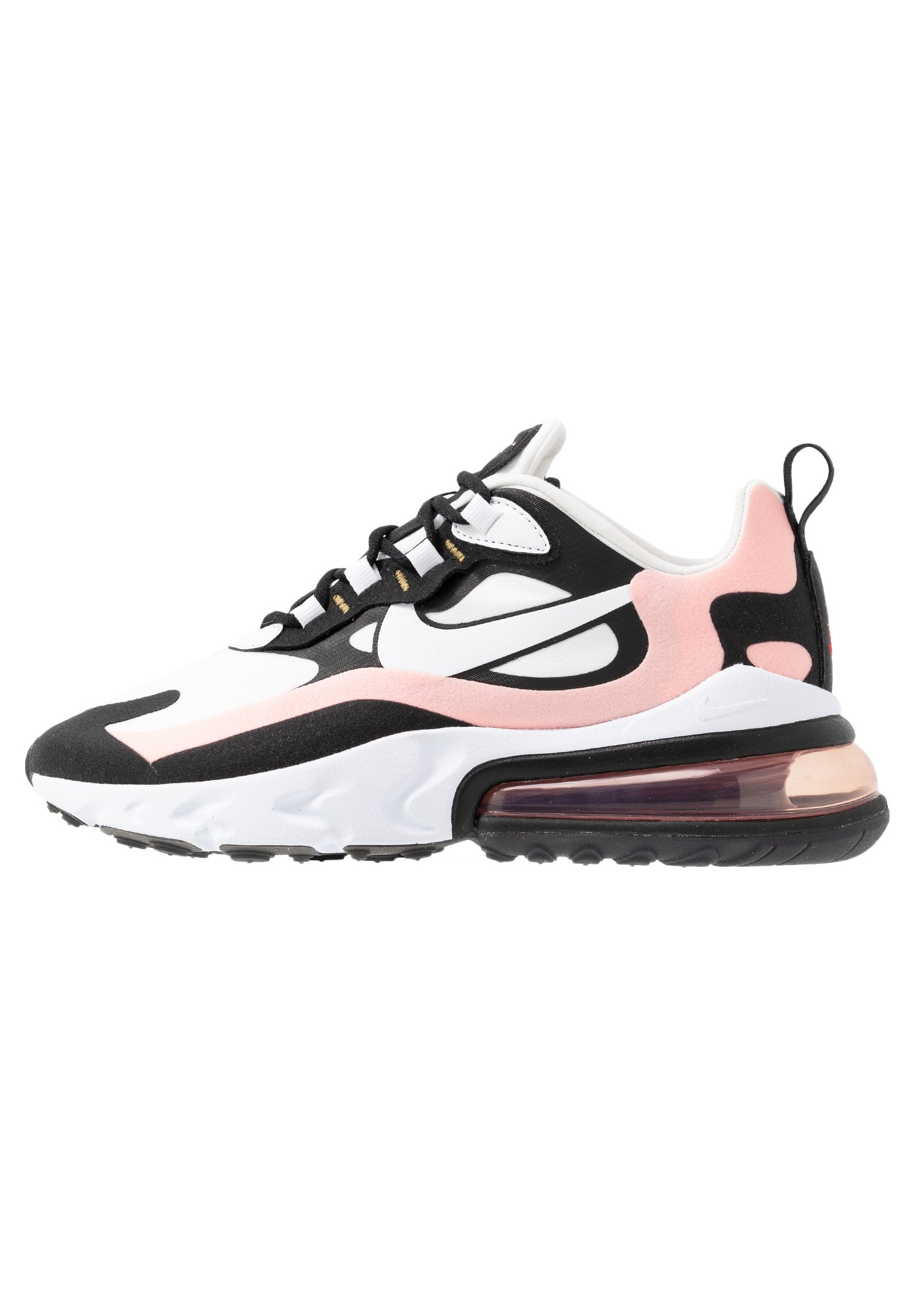 AIR MAX 270 REACT - Baskets basses - black/white/bleached coral/metallic  gold/university red